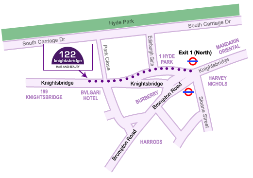 122 Knightsbridge map