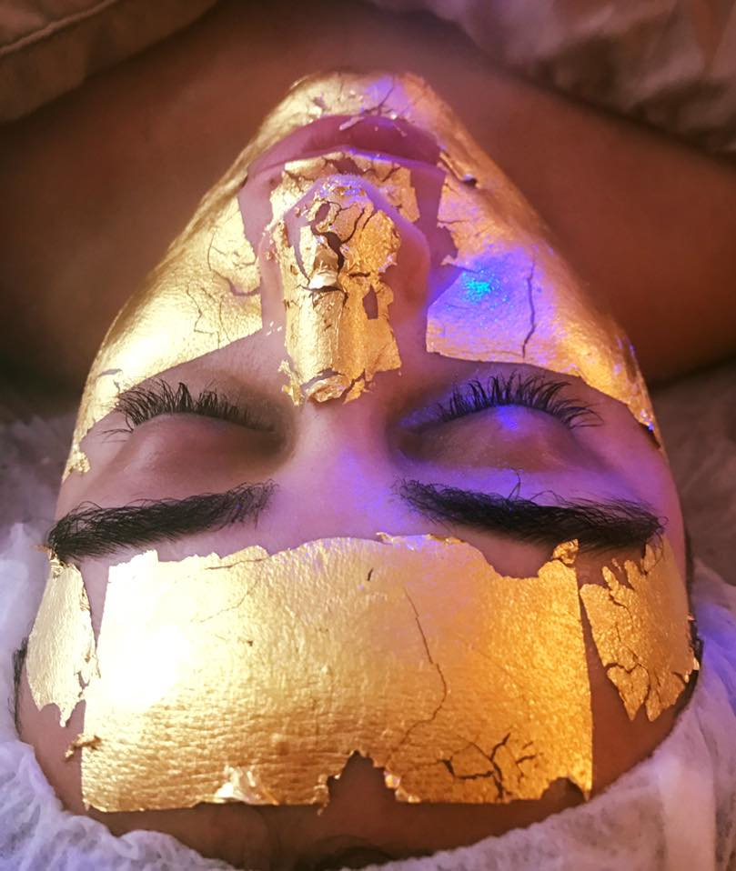 Gold facial treatment